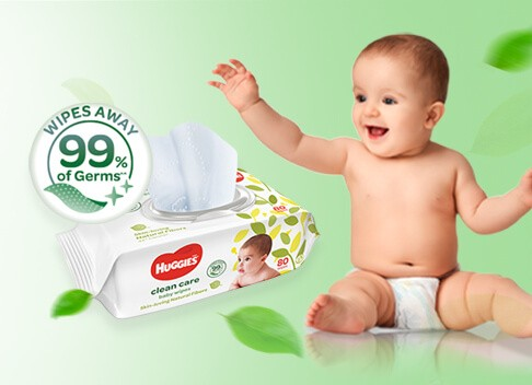 Baby Wipes - Clean Care | Huggies Malaysia