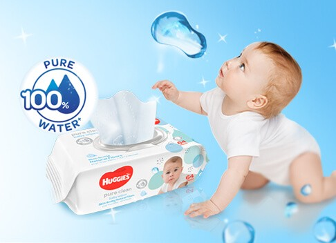 Baby Wipes - Pure Clean | Huggies Malaysia